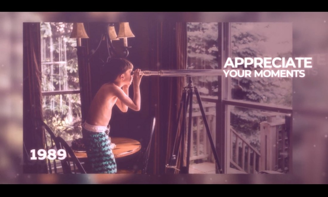 Photo Memory Slideshow Template for DaVinci Resolve