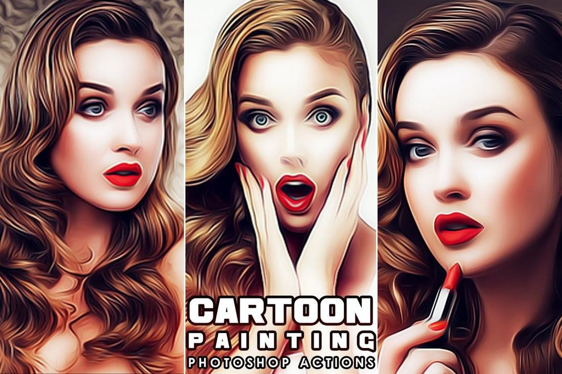 Photo To Cartoon Photoshop Actions