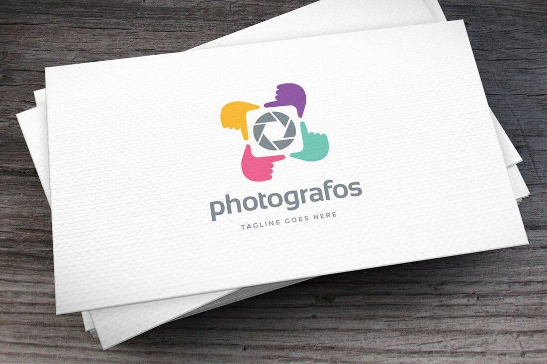 Photografos-Logo-Template 50+ Best Minimal Logo Design Templates design tips