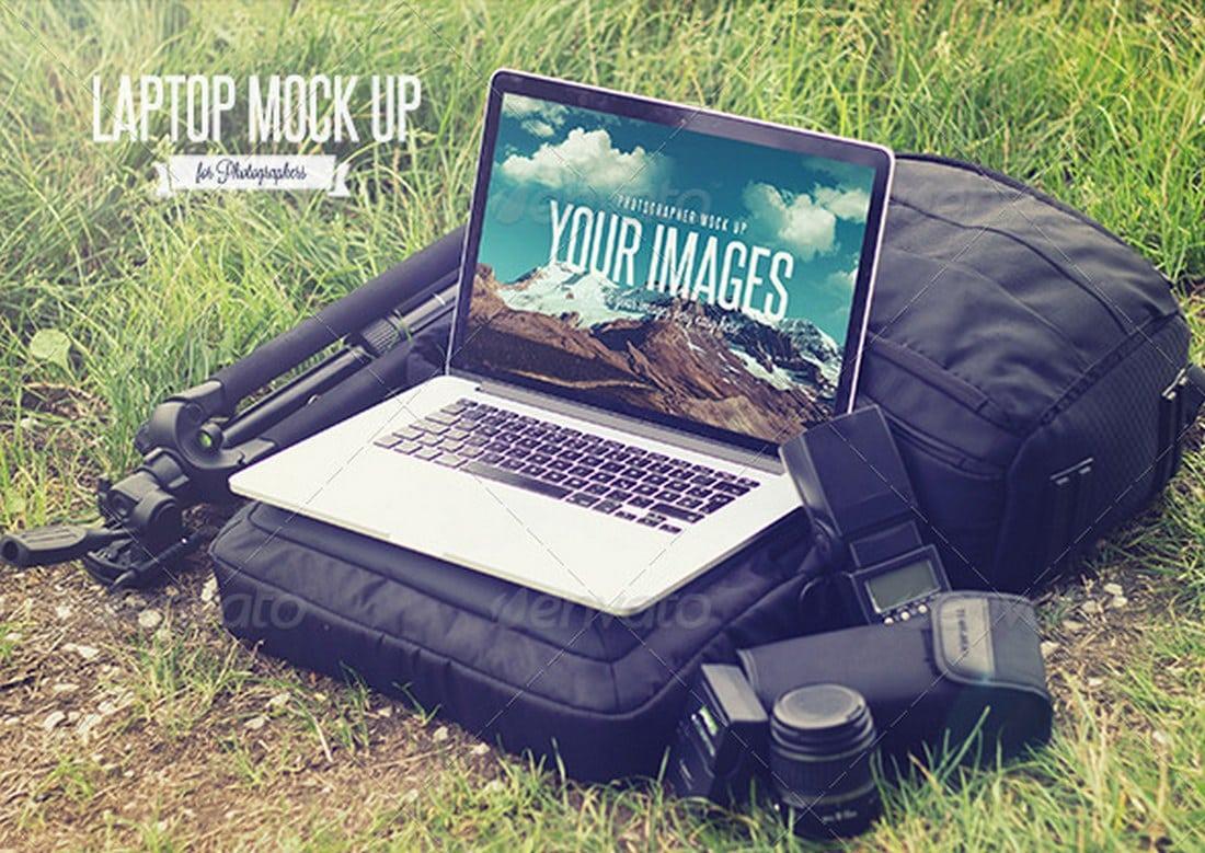 Photographer-Laptop-Mockup 20+ Laptop Mockup Templates (PSD & PNG) design tips
