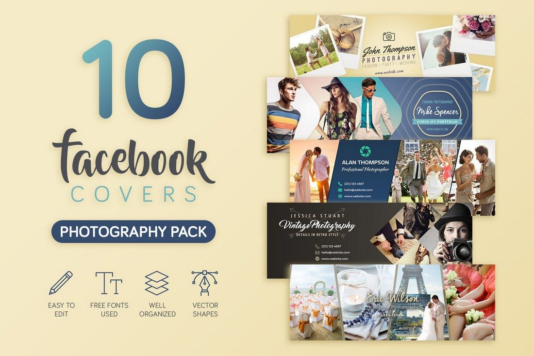 Photography-Facebook-Cover 20+ Best Facebook Cover & Post Mockups design tips