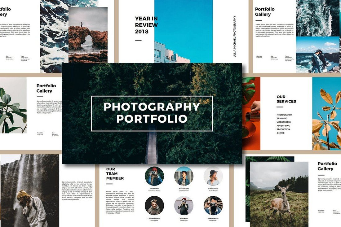 Photography-Porfolio-PowerPoint-Template 25+ Best PowerPoint Portfolio Templates 2020 design tips