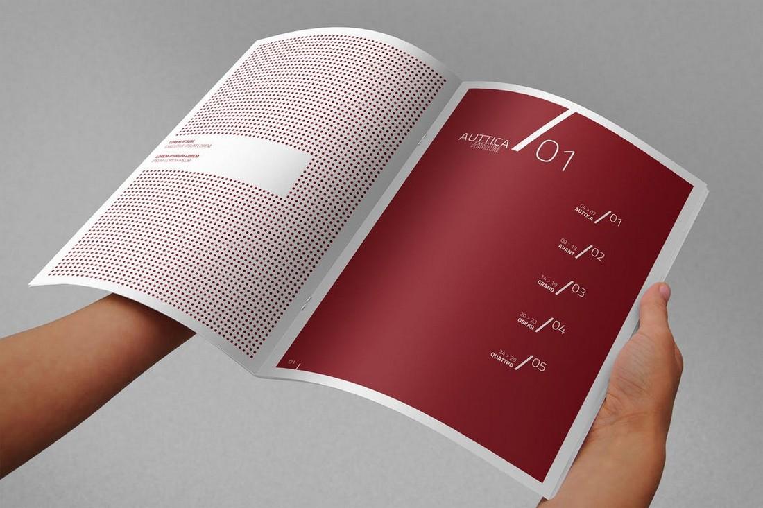 Photorealistic A4 Brochure Mockup