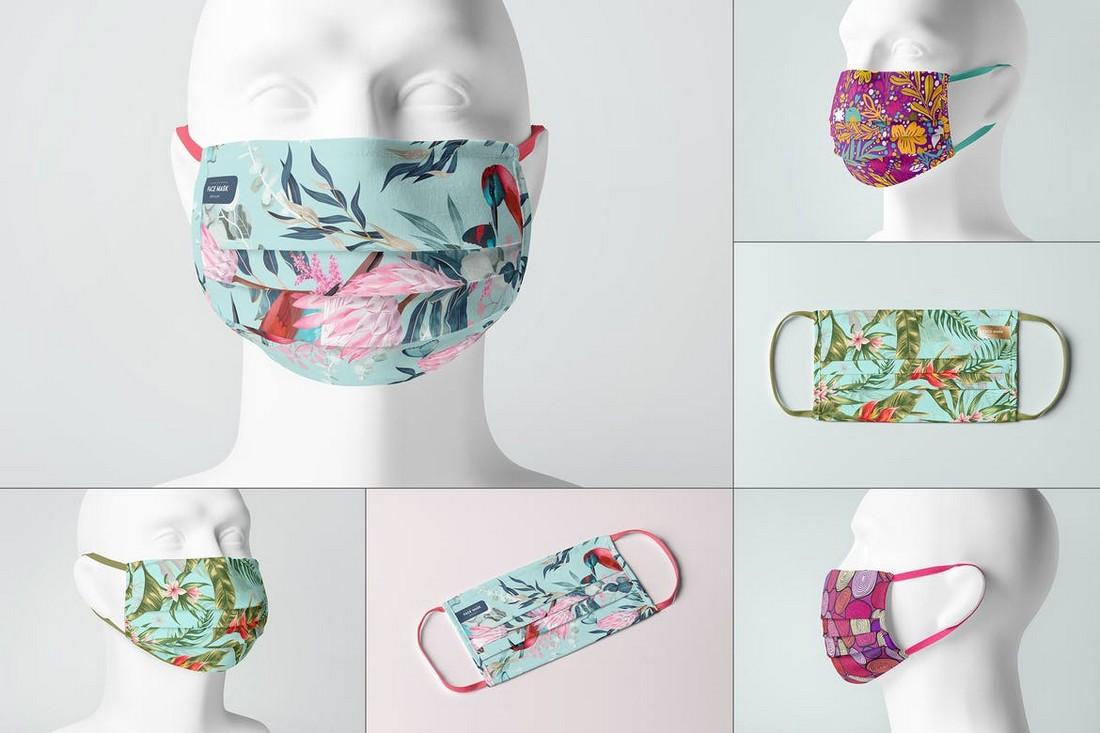 Photorealistic Face Mask Mockup Templates