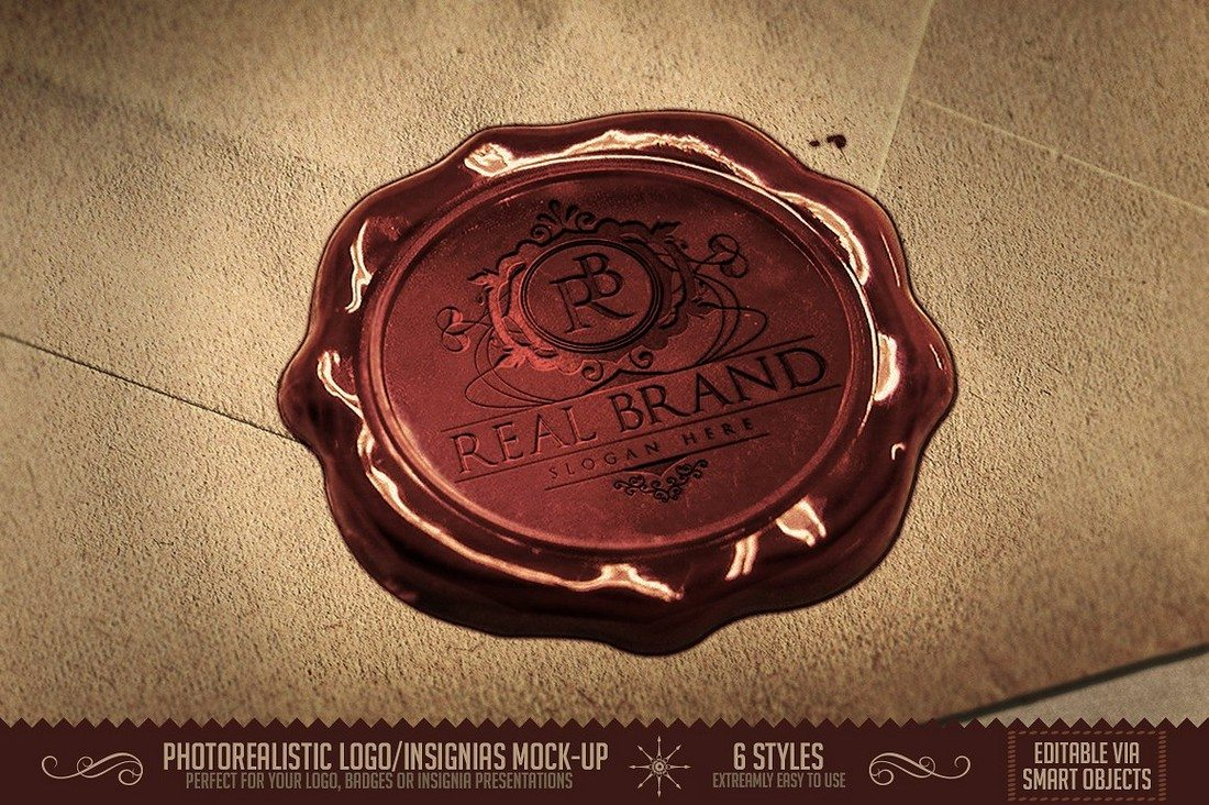 Photorealistic-Logo-Insignia-MockUps 40+ Stunning Vintage Mockup Packs & Graphics design tips