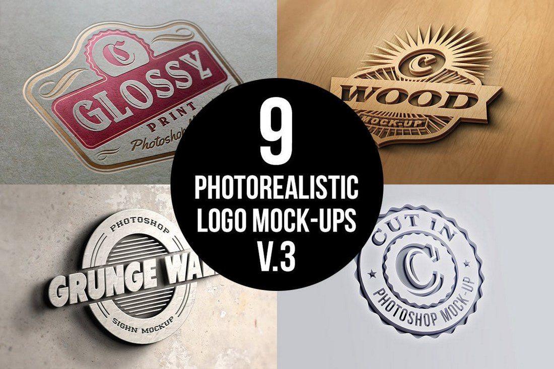 20 Best 3d Logo Mockup Templates Design Shack