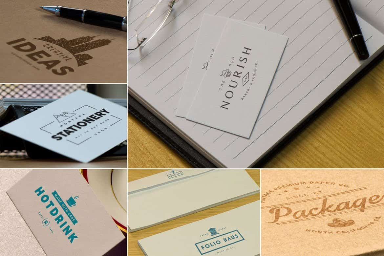 Photorealistic Paper Logo Mockups