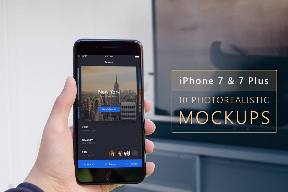 Photorealistic-iPhone-7-7-Plus-Mockups 20+ Best iPhone 6 + 7 Mockup PSD Templates design tips