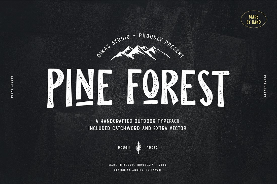 Pine Forest - Free Hand Lettering Font