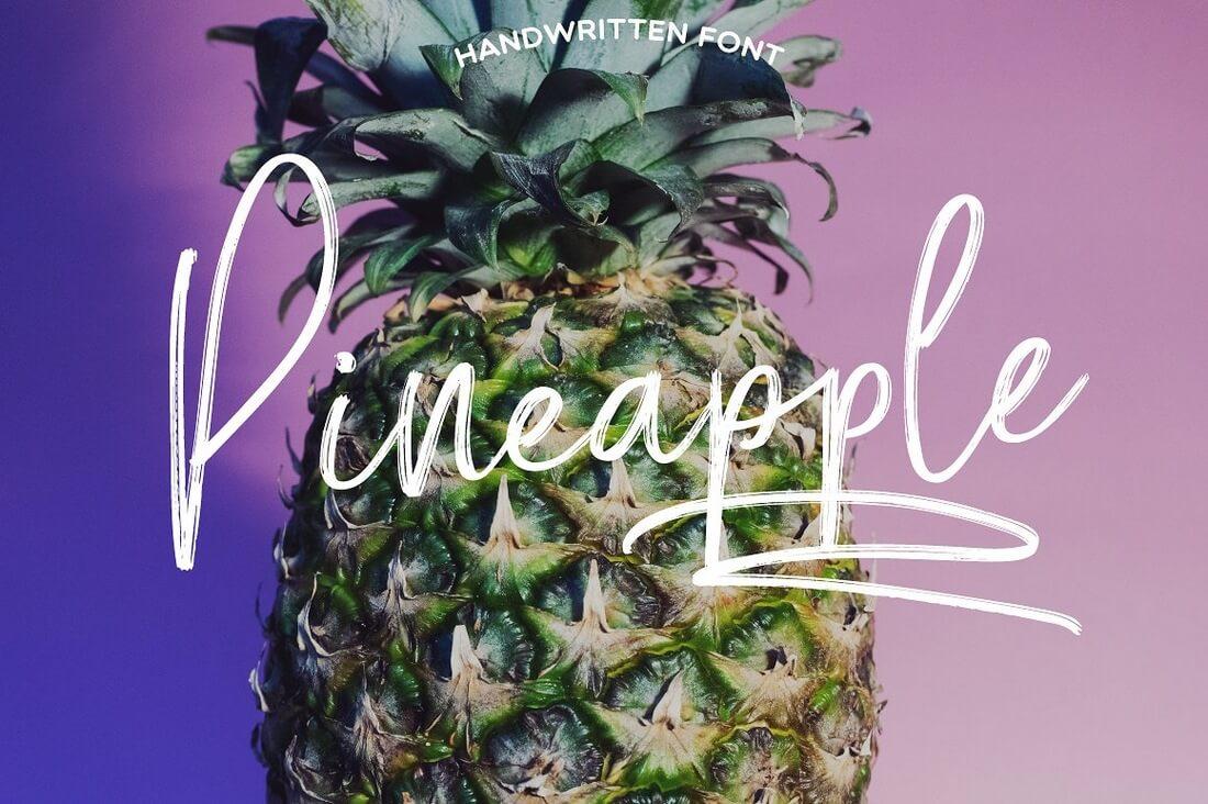 Pineapple-Script 100+ Beautiful Script, Brush & Calligraphy Fonts design tips
