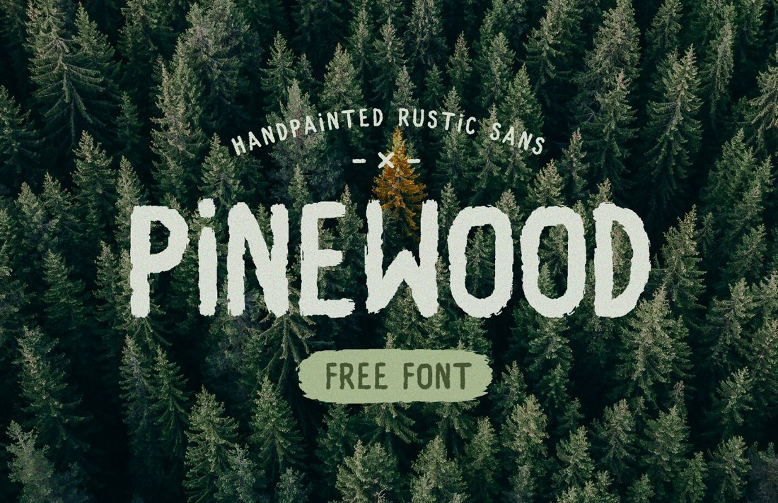 Pinewood-Free-Rustic-Sans-Brush-Font 25+ Free Brush, Script & Hand Lettering Fonts design tips