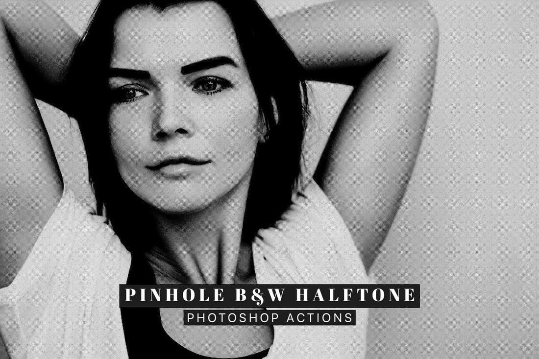 Pinhole Halftone Photoshop Actions