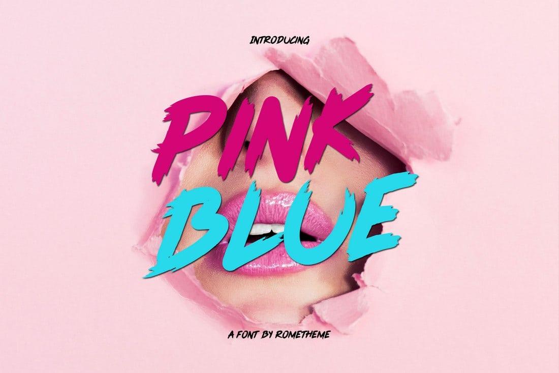 Police rose bleue