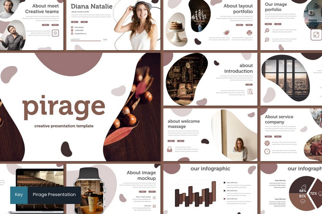Pirage - Modern Keynote Template