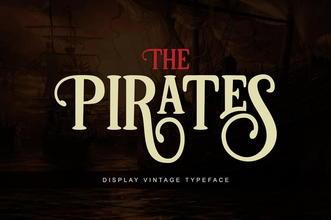 Pirates - Vintage Display Font