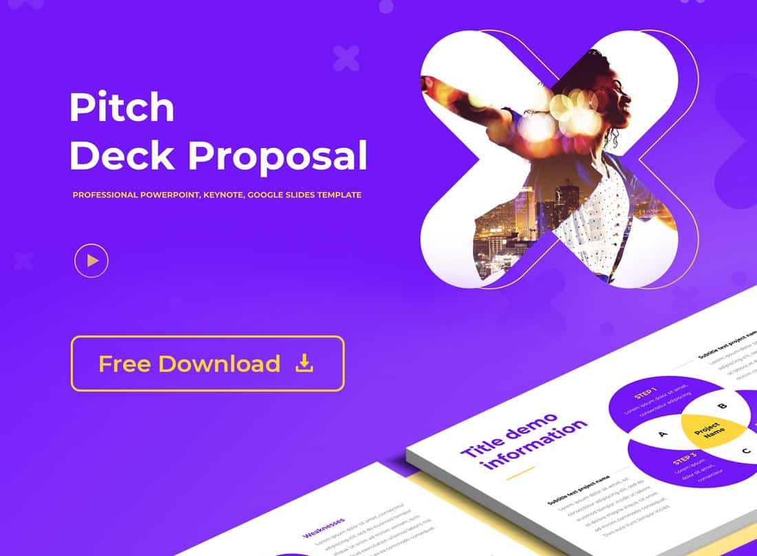 Pitch Deck - Free PowerPoint Presentation Template