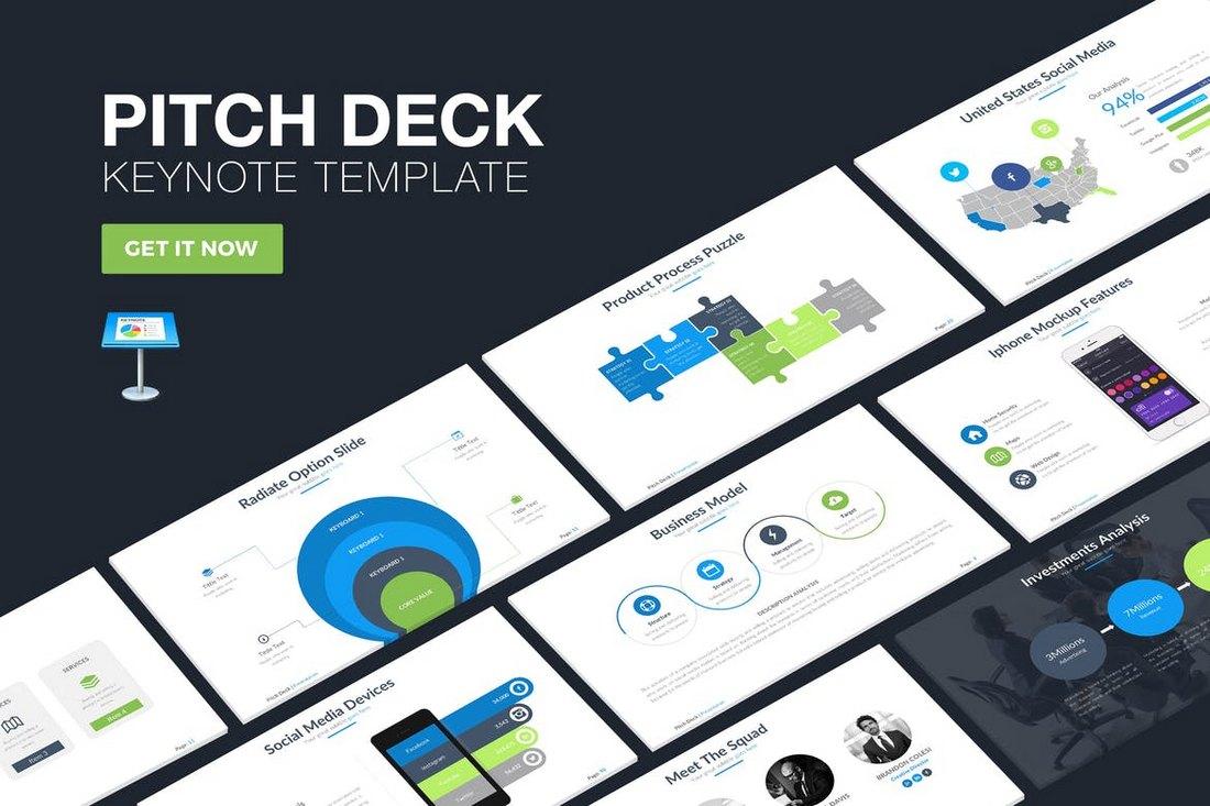 25 keynote business slide templates design shack pitch deck keynote template cheaphphosting Images