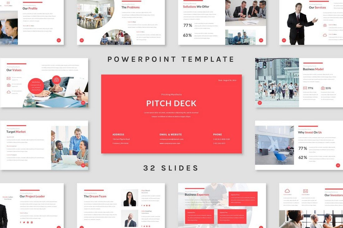 Pitch Deck - Powerpoint Template mixpanel