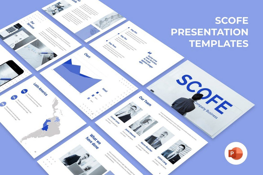 Pitch Deck template square