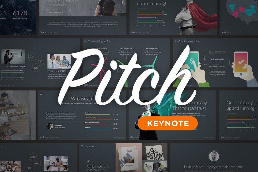 Pitch-Keynote-Template 30+ Best Minimal & Creative Keynote Templates design tips