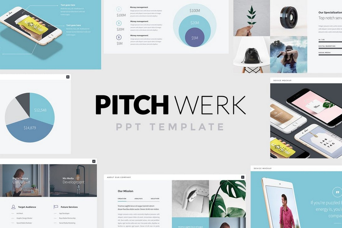 Pitch-Werk-Elegant-Powerpoint-Pitch-Deck 10 Best Pitch Deck Examples That Made Startups (+ Templates) design tips