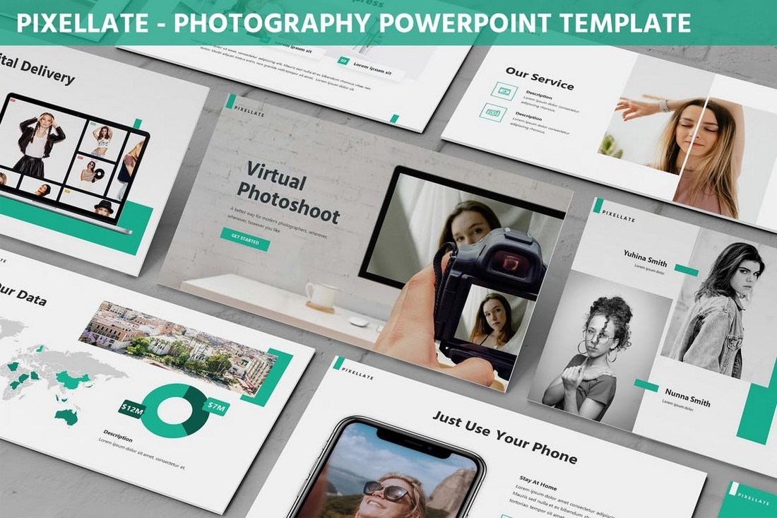 Pixelatte - Photography Portfolio Powerpoint Template