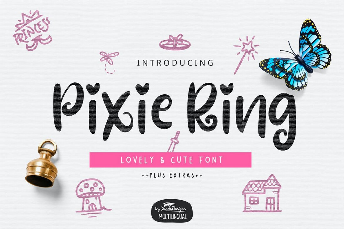 Pixie Ring - Cute Decorative Font