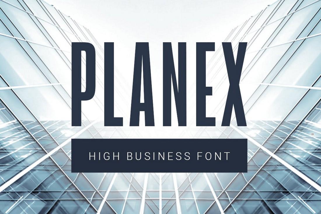 Planex - Business Title Font