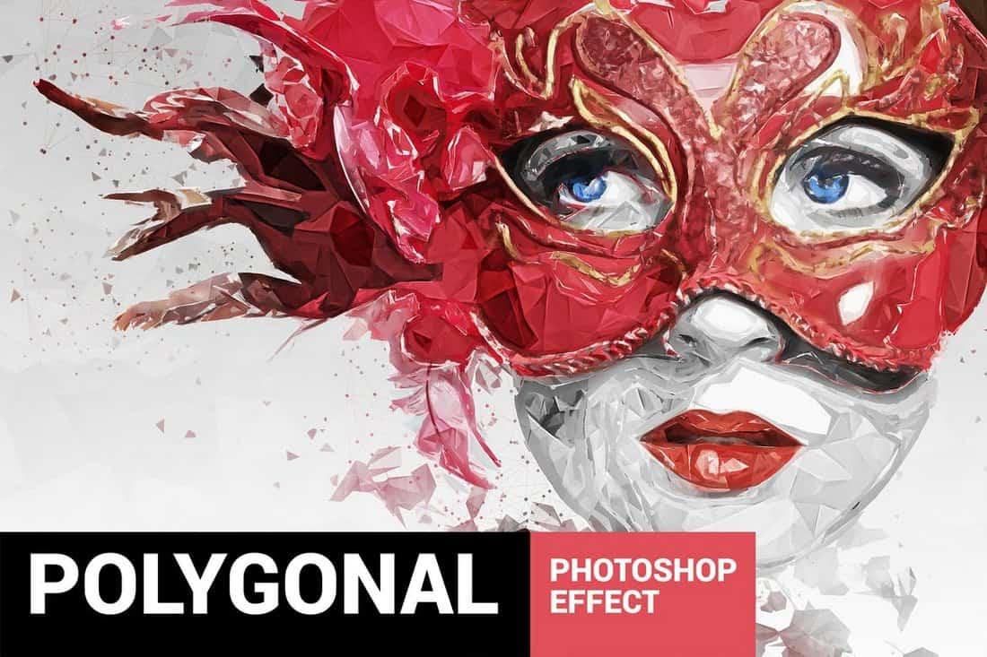 Plasticum - Polygonal Art Photoshop Action