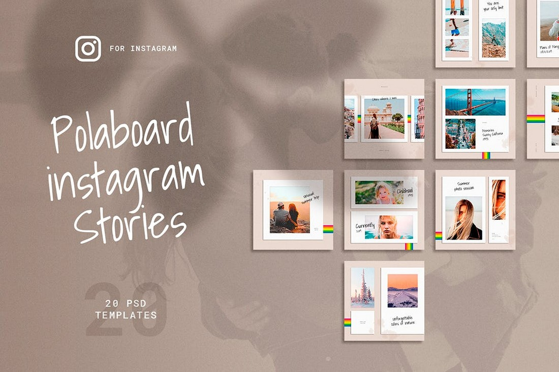 Polaboard Instagram Post Templates Kit