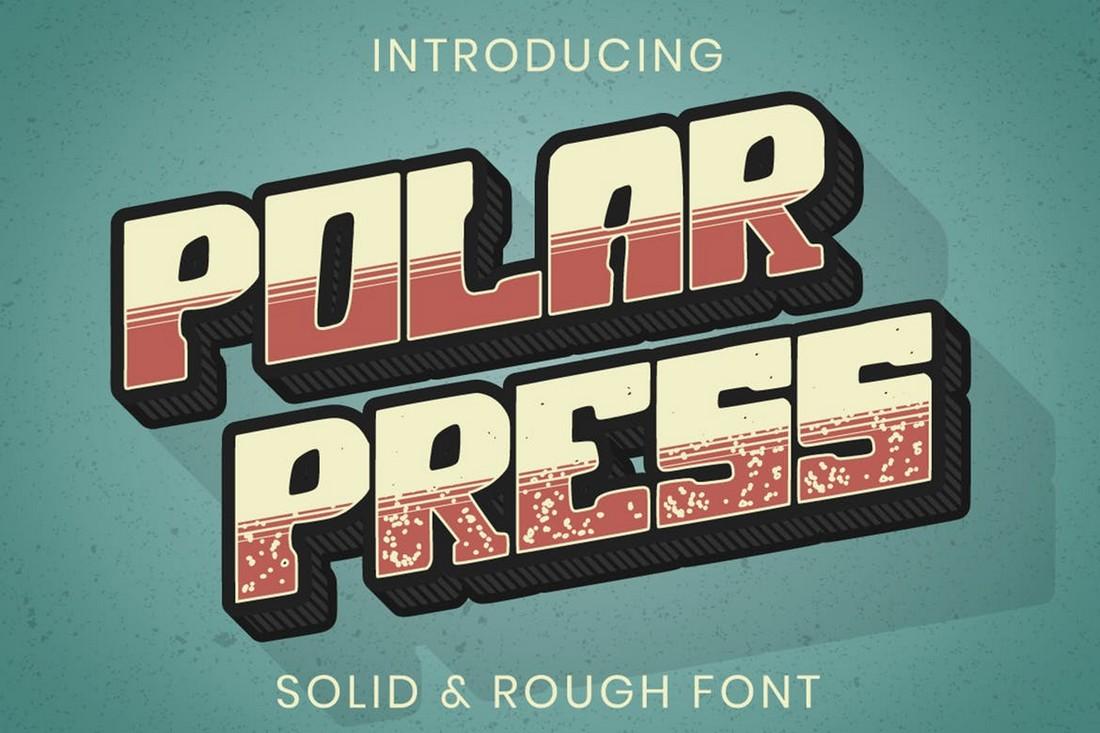 Polar Press - Vintage 3D Poster Font