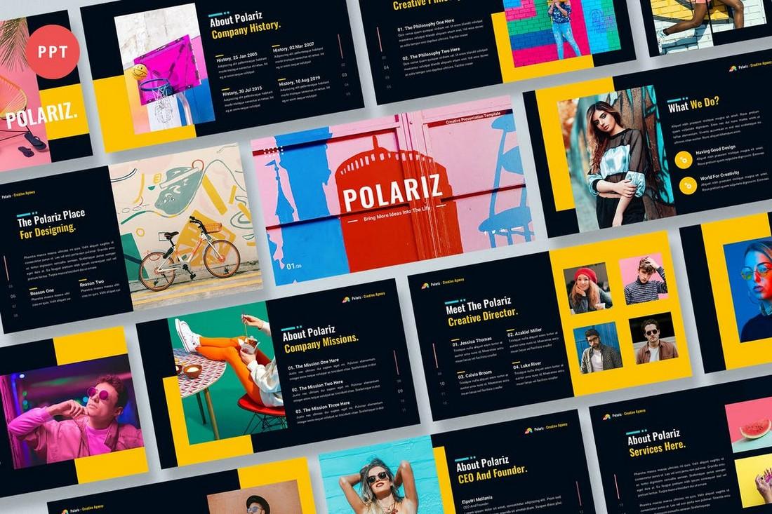 Polariz - Colorful Portfolio Powerpoint Template