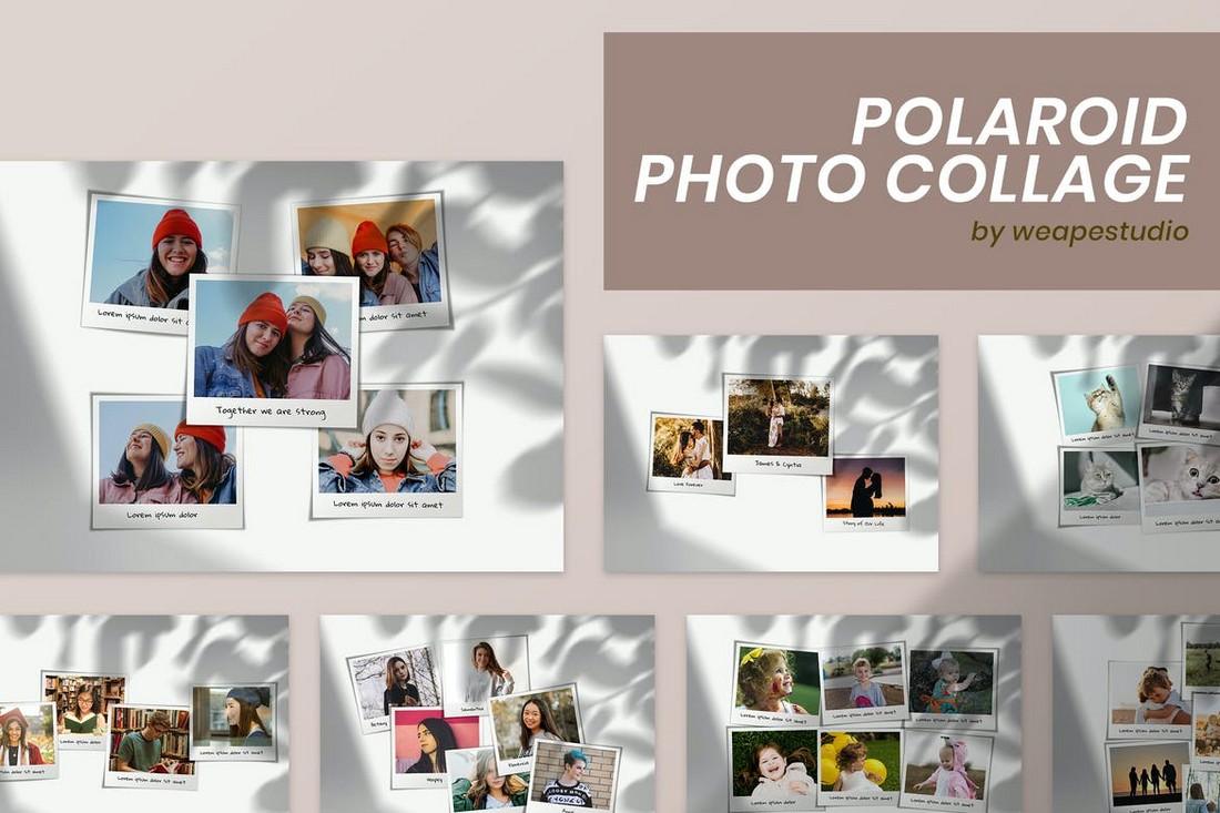 Polaroid Photo Collage PSD Template