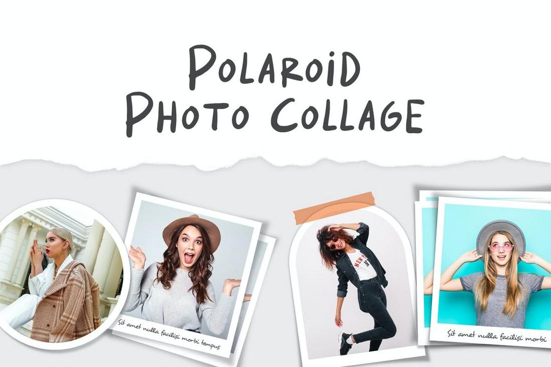 Polaroid Photo Collage Photoshop Templates