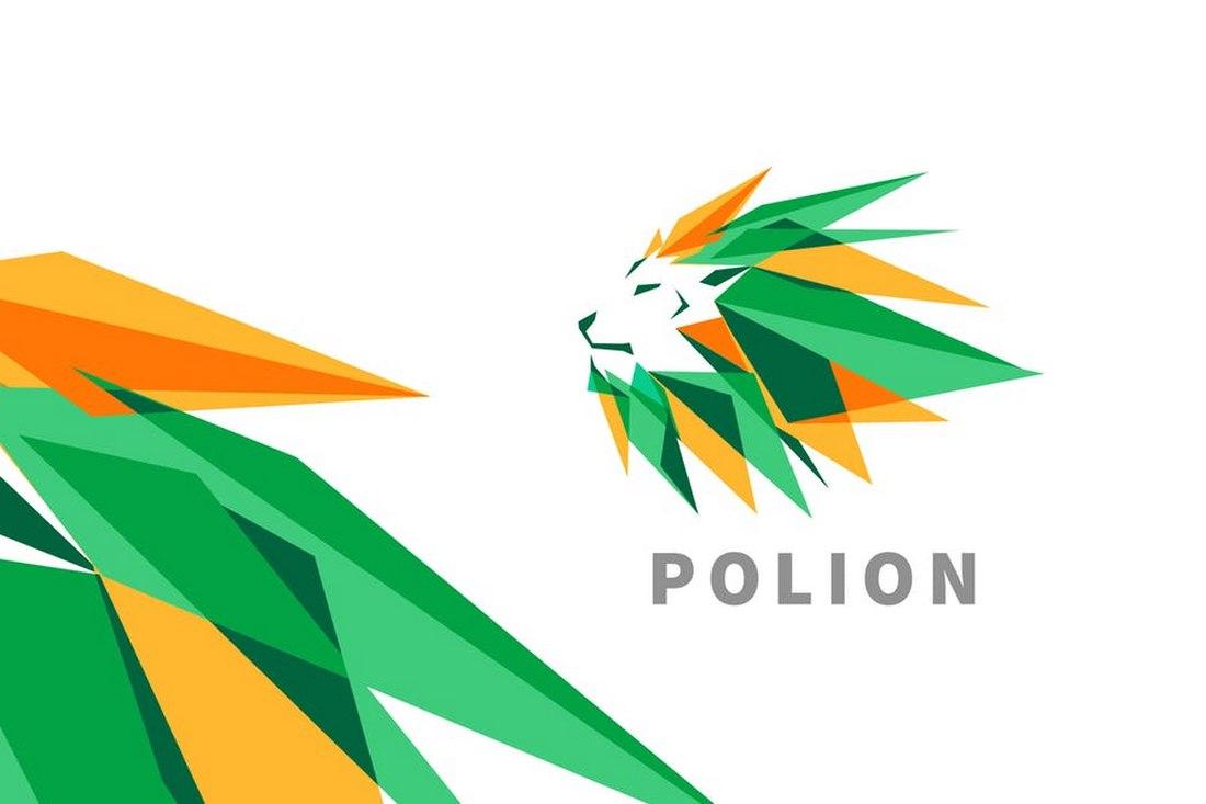 Polion - Low Poly Lion Logo