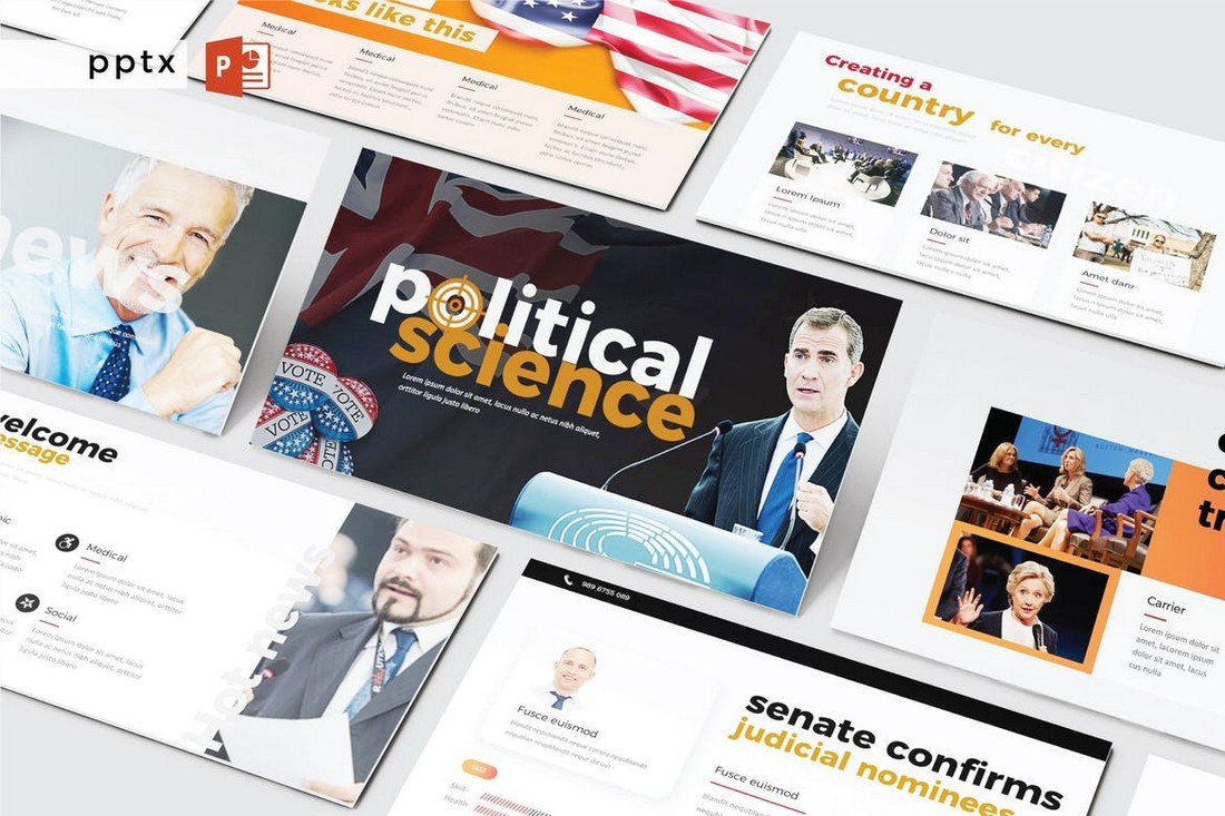 Political Science PowerPoint Presentation Template