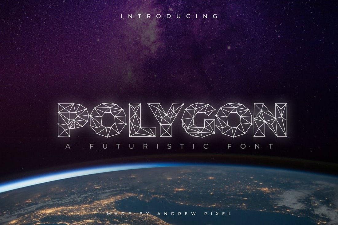 Polygon Technology - Futuristic Font
