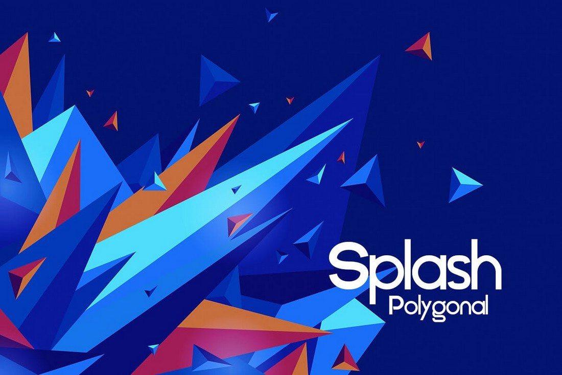 Polygonal-Splash-Backgrounds 20+ Beautiful Geometric & Polygon Background Textures design tips