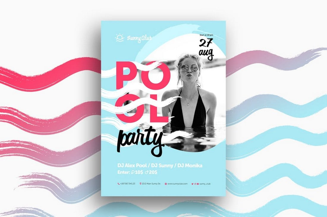 Pool-Party-Poster 30+ Best Event Flyer Templates design tips