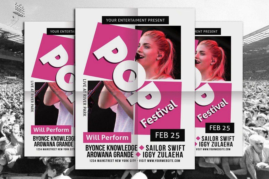 Pop-Music-Concert 30+ Best Music & Band Flyer Templates design tips