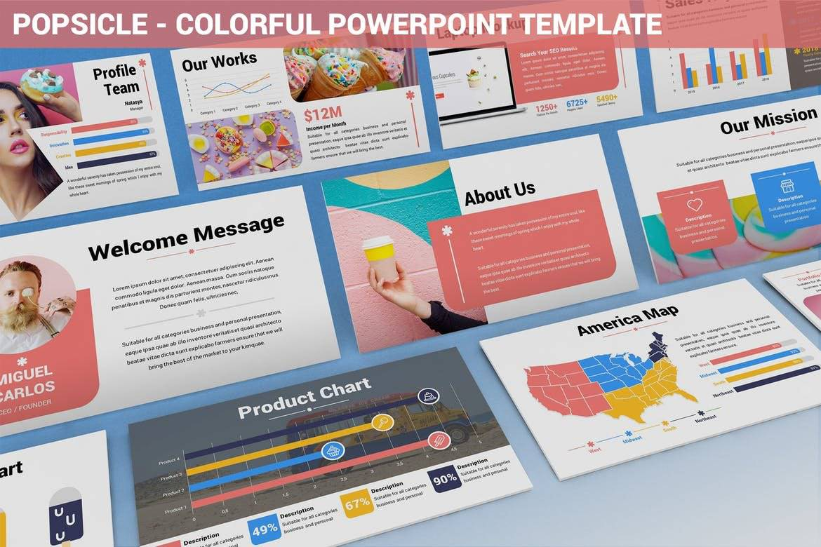 Popsicle - Colorful Powerpoint Template