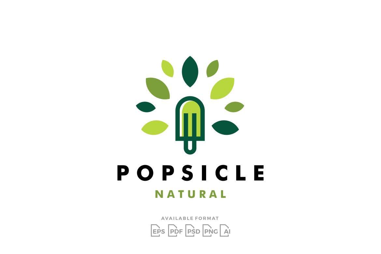 Popsicle Tree Natural Logo Mockup