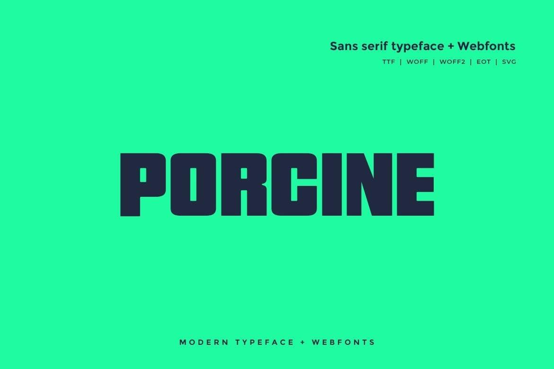 Porcine - Modern Block Font