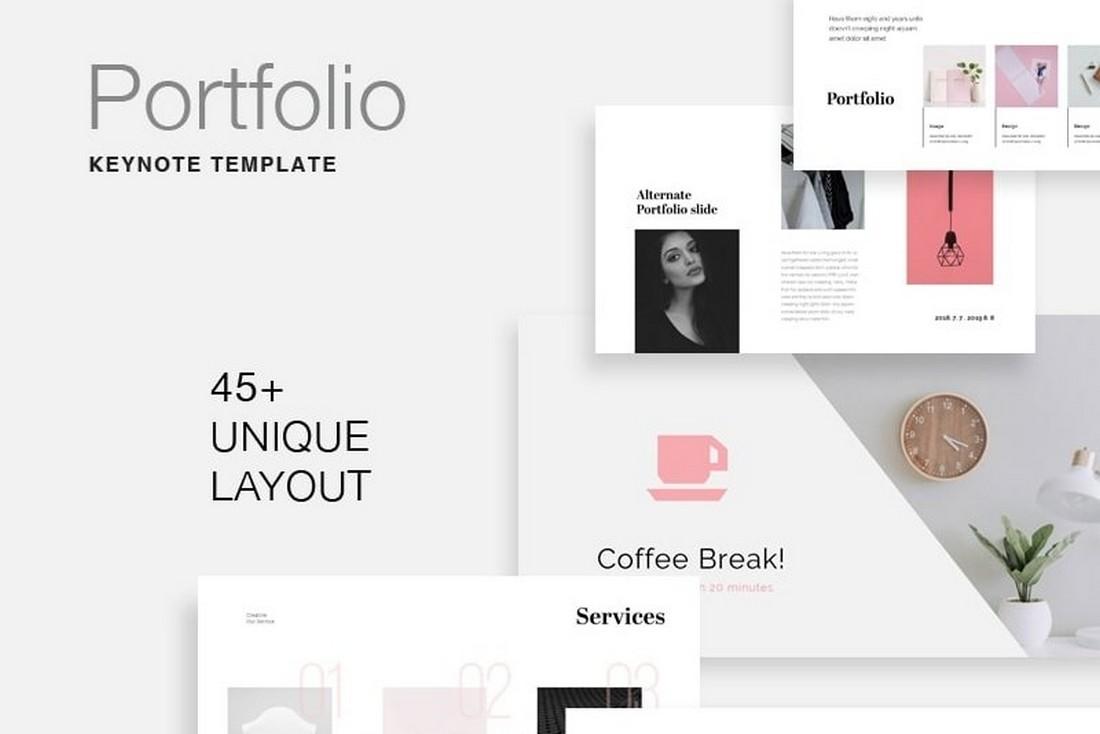 Portal - Free Portfolio Keynote Template