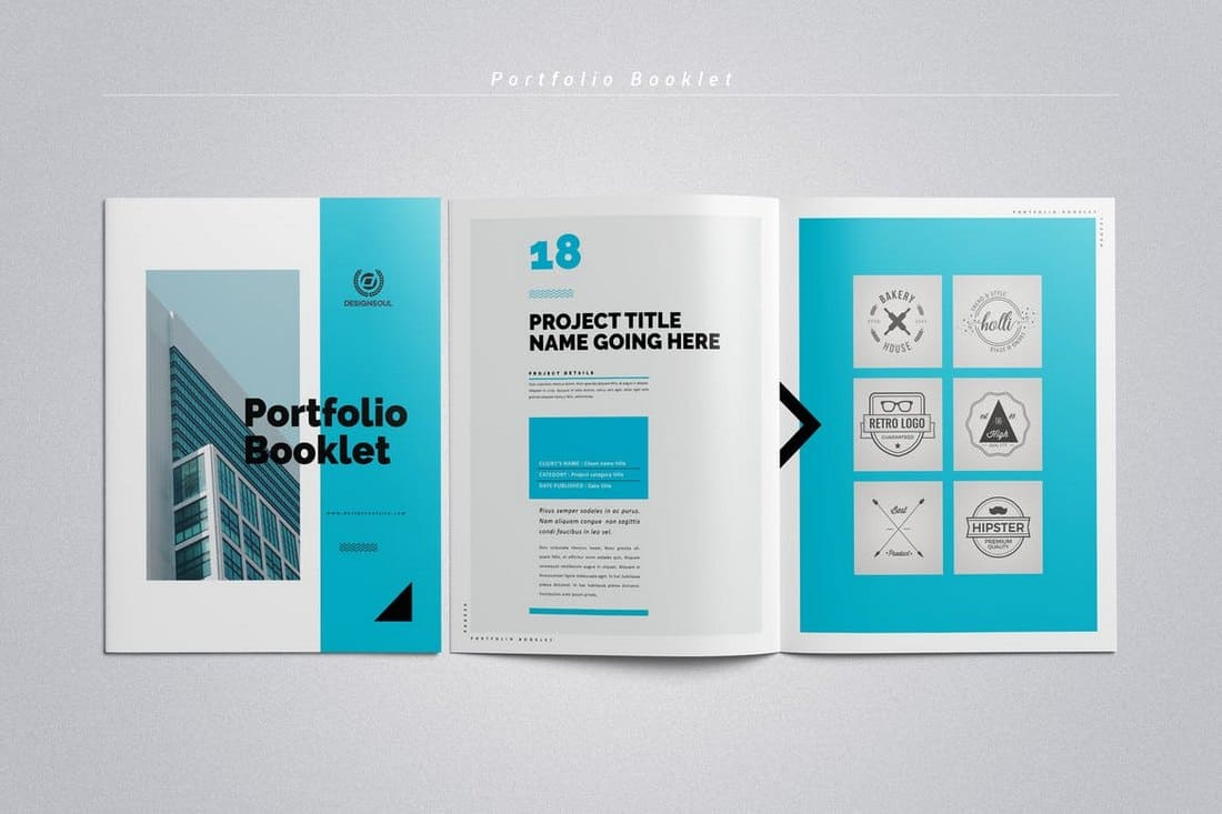 Portfolio Booklet InDesign Template