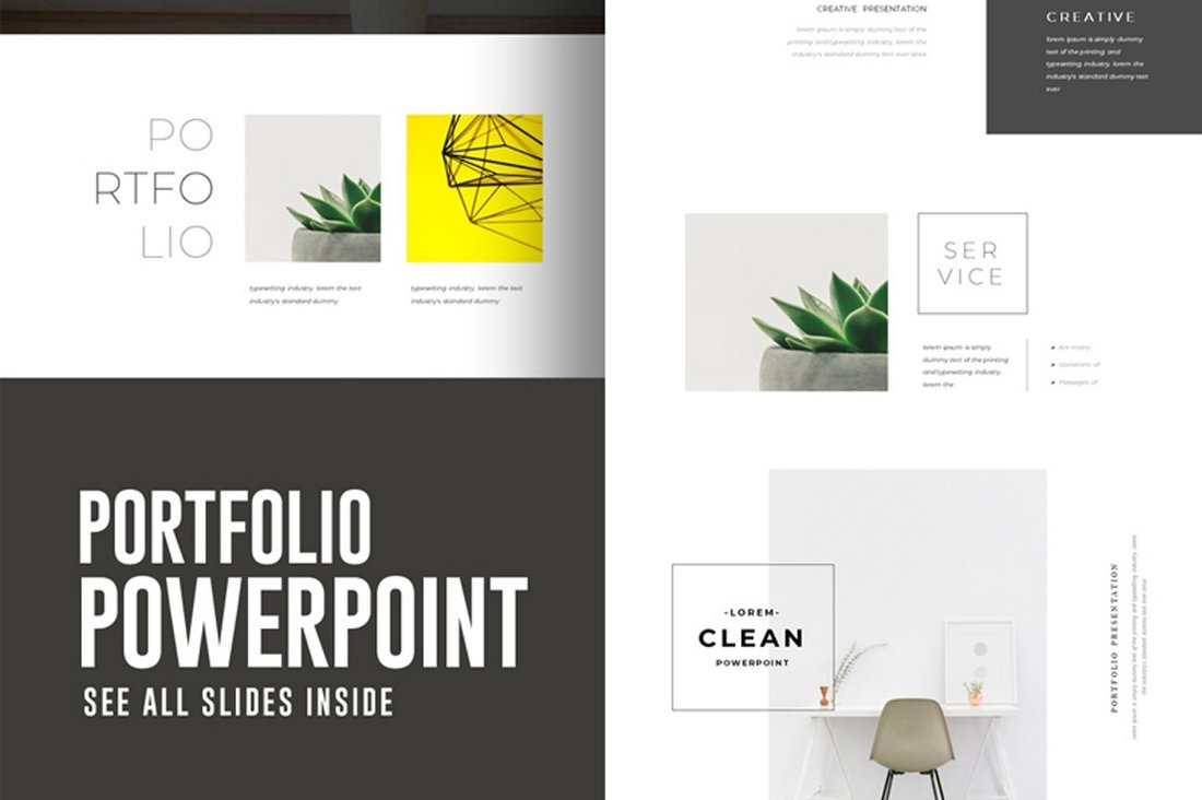 Portfolio-Free-PowerPoint-Presentation-Template 30+ Animated PowerPoint Templates (Free + Premium) design tips
