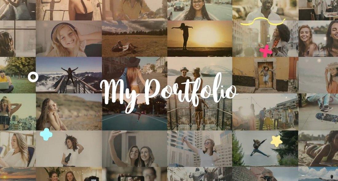 Portfolio Slideshow Video Template FCPX