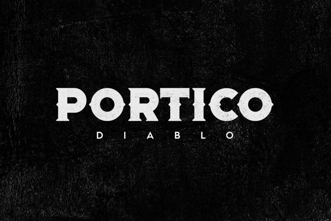 Portico-Diablo 100+ Best Modern Serif Fonts design tips