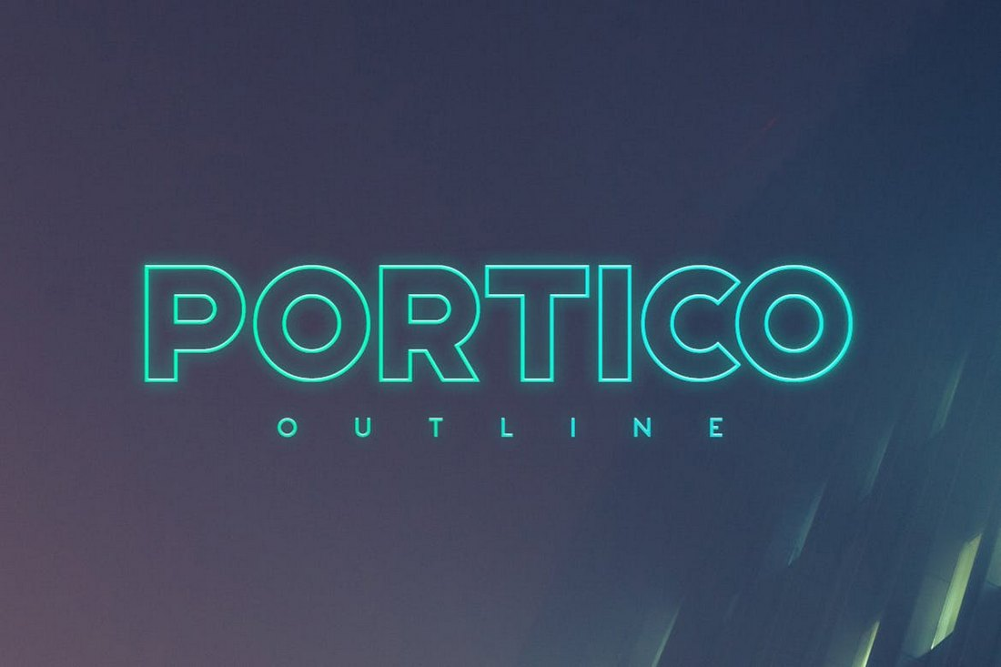Portico-Outline-Poster-Font 30+ Best Fonts for Posters design tips