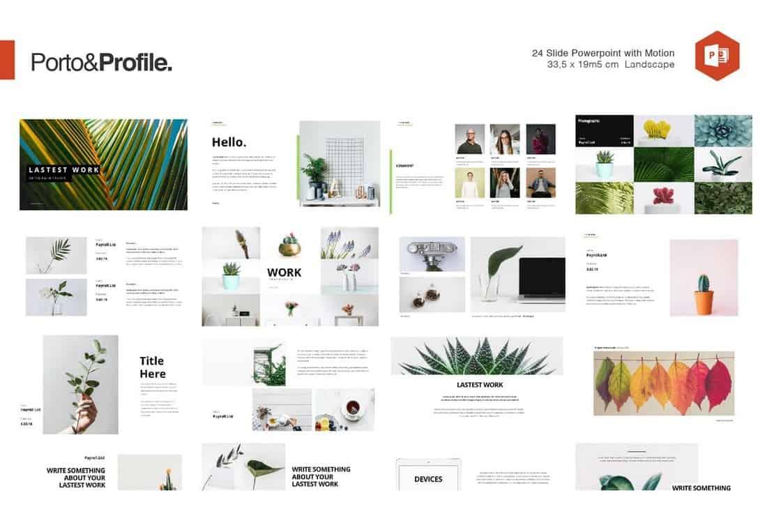 Porto-Profile-Powerpoint-Templatea 40+ Best Company Profile Templates (Word + PowerPoint) design tips
